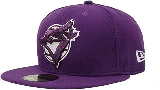 59Fifty Hat MLB Toronto Blue Jays Coopertown League Basic Purple Cap