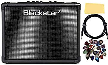 Blackstar ID:Core Stereo 40 V2 Guitar Amplifier Bundle with Instrument Cable, Picks, and Austin Bazaar Polishing Cloth
