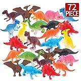 Amy & Benton Jouets Dinosaures 72pcs Figurines Réalistes Modèle, Educatif Dinosaures de Jurassic World, Jouet pour...