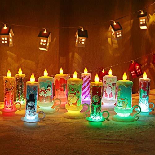 Wankd LED-kaars, kerstverlichting, theelichtjes met batterij vlamloos kaarsen incl. batterijen LR44, vlamloze LED waxinelichtjes flikkerende kaarsen met flakkereffect warmwit