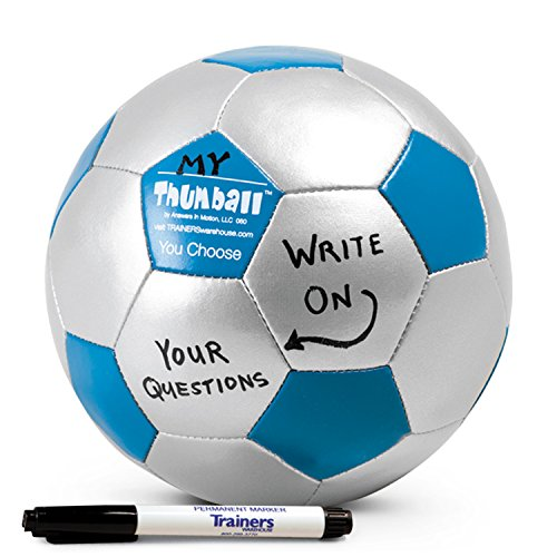 """Create-Your-own Thumball 6"""", Blue, (Includes Marker)"""
