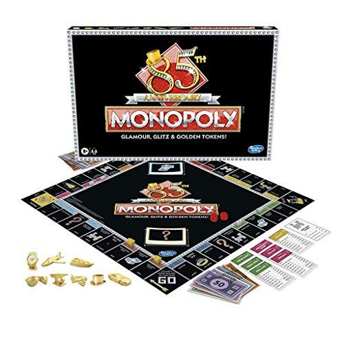 WAGA Monopoly Monopoly 85.TH Aniversario Edición, Juego de Mesa para niños Edades 8 & Up Puzzle Game Board Juego Regalo para Hombre y Adolescentes (Color : 85th)