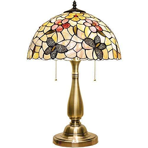 Lámpara de Mesa de Iluminación Decorativa Interior Lámpara de mesa - Lámpara de mesa de noche de cristal con doble puerto, Mesilla de noche elegante lámpara con pantalla, lámpara de escritorio decorat