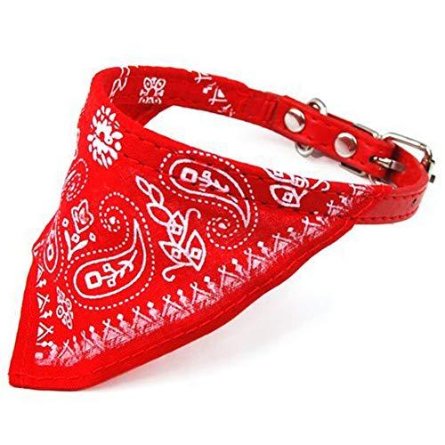 Naisicatar Bandanas Perro de Animal doméstico Ajustables del triángulo del pañuelo Bufanda Mascotas Pañuelo de Collar para Perros Gatos de Red Una Buena elección