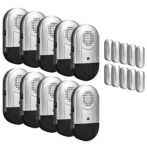 Daytech Allarme per porte e finestre 10 PCS Home Security Sensore magnetico 120DB Alert per Home Business Kids