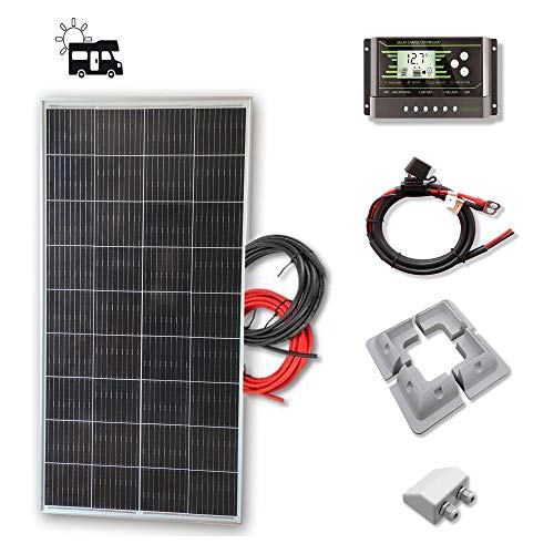 Kit 150W CAMPER 12V panel solar placa monocristalina células PERC de alta eficiencia