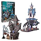 Halloween 3D Puzzle DIY Model Set - Cardboard Jigsaw Puzzles Tree House Castle Kit with 89 Pieces - 2 Puzzles