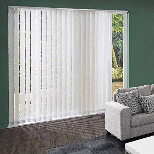 Láminas Verticales vela, color blanco, 8,9 cm de ancho y 280 cm de al