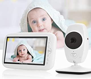 Baby Monitor with Camera and Night Vision Breathing 3.5-inch High-Definition LCD Screen Night Vision Function Two-Way Inte...
