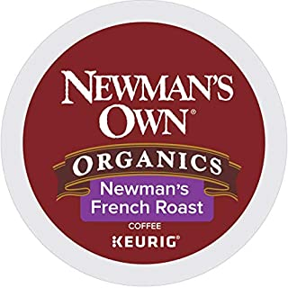 Newman's Own Organics French Roast Coffee single serve cups for Keurig K-Cup brewers (72 Count)