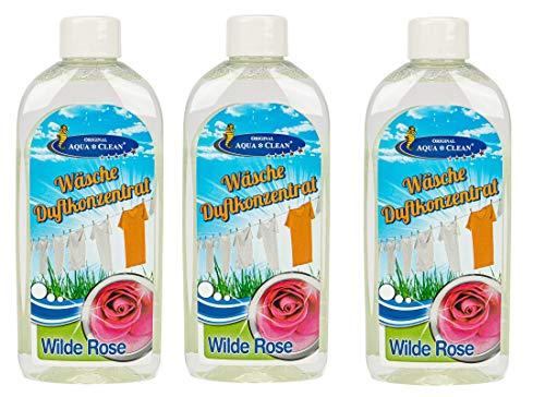AQUA CLEAN Wäsche Duftkonzentrat 3x250ml (Wilde Rose)