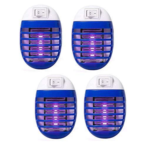 4 Pack Electric Bug Zapper, Plug in Mosquito Killer with UV LED Night Light, Electronic Insect Fly Trap for Indoor Outdoor Use