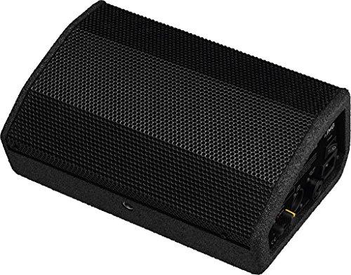 IMG STAGELINE FLAT-M100 Aktive PA-Bühnenmonitorbox, Monitor Box mit 100 Watt Leistung in Schwarz