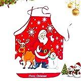 WELLXUNK® Delantal Navidad, Delantales Impresos, Delantal Cocina Adultos, Anime Chef Delantales, Delantal Navidad Cocina Regalo Ideal Navidad, Delantal Fiesta Festiva Decoraciones Navideñas (E)