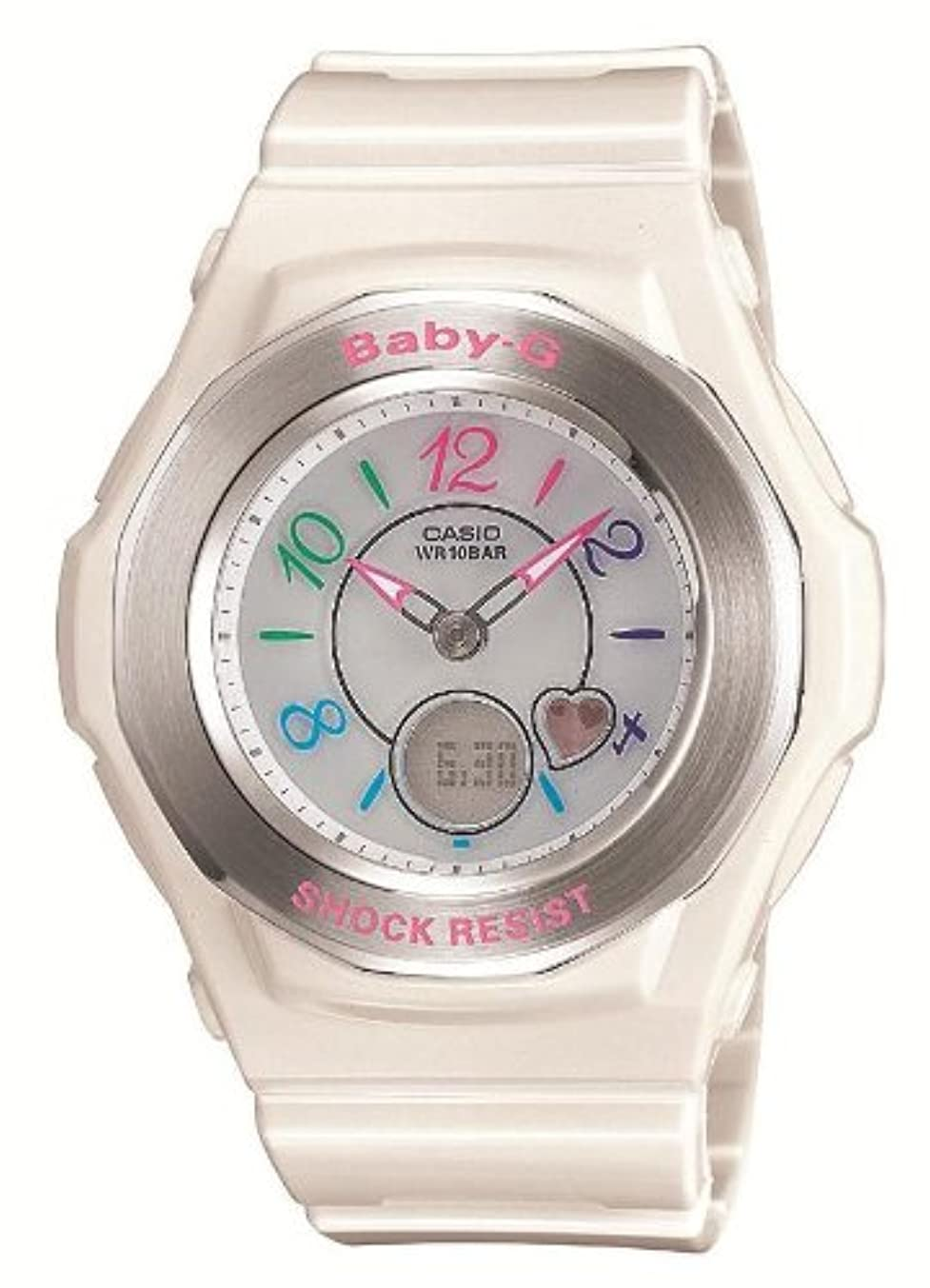 ジョセフバンクスメイト増加する[カシオ] 腕時計 ベビージー 電波ソーラー BGA-1020-7BJF ホワイト