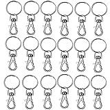 Llavero de metal con ganchos de langosta para manualidades clave, llaveros para manualidades, cadenas anillos, llaveros de hardware y cordones (50 piezas)
