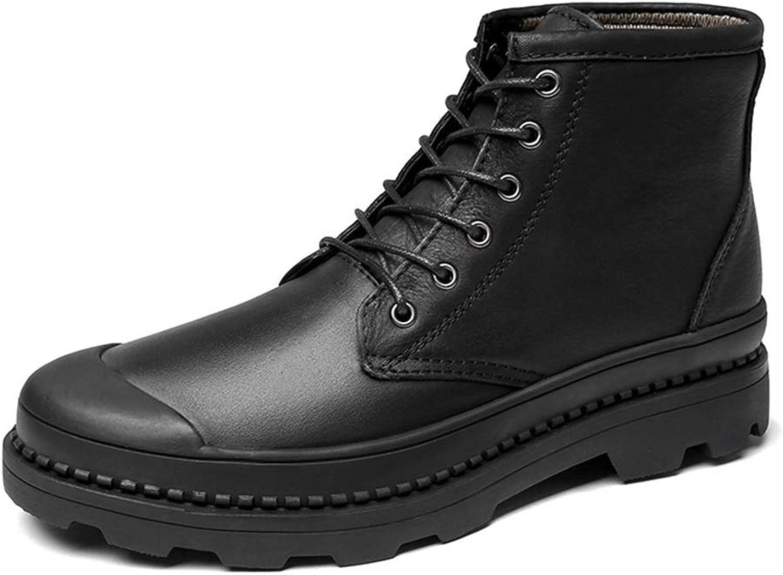 HILOTU-Herrenstiefel,Wasserdichte Stiefel für für für Männer Schnürschuhe Schuhe Arbeitsschuhe (Farbe   Schwarz, Größe   38 EU)  8fad75