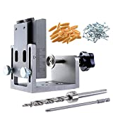 ExcLent Aluminum Alloy 9Mm Pocket Hole Jig Set Dowel Drilling Hole Kit Carpentry Punch Locator Woodworking Drill Guide Tool