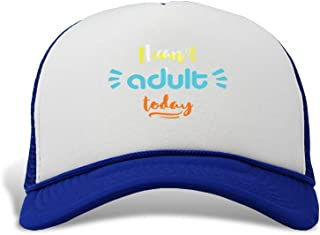 Trucker Hat I Can't Adult Today Polyester Baseball Mesh Cap Snaps One Size