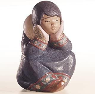 Lladro Pensive Eskimo Girl Porcelain Figurine