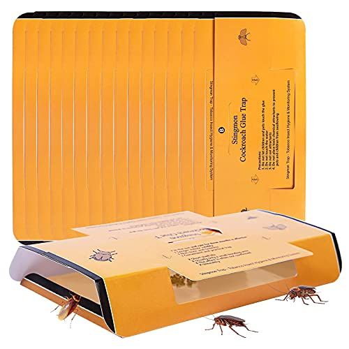 24 Pack Roach Traps Cockroach Killer Indoor Home, Roach Bait Glue Trap for Beetles Roaches Bugs Spiders Crickets