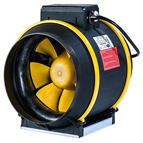Can Filter Group 736748 Can Pro Series 863 CFM Max Fan, 8', 8', Black