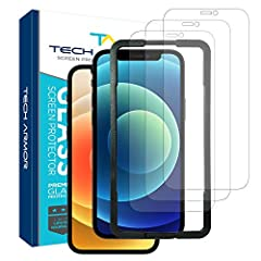 """DESIGNED FOR APPLE NEW 2020 IPHONE 12 (6.1"""") and IPHONE 12 PRO (6.1""""). ADVANCED TECHNOLOGY HD BALLISTIC GLASS. Made from the highest-grade glass, our multilayered Ballistic Glass screen protectors help prevent damage from drops and scratches, while p..."""