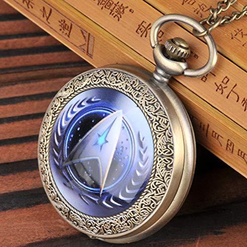 HWCOO Taschenuhren Große interstellare Taschenuhrmusterkarikaturflecken des Bronzesternes Nette Taschenuhr Uhren (Color : 2)