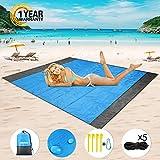 Mikikin Beach Blanket Sand Proof, Beach Mat Sand Free, Oversized...