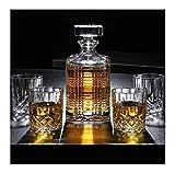ZWJ-Decantador De Whisky 7 Pieza Whisky decantadores 100% sin Plomo Cristal Whisky Decanter Puede Contener hasta 750 ml con Tapa for la Vodka Whisky escocés Ron Tequila Más (Color : A)