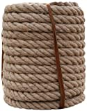 LXM Natürliches Jute-Seil, 50 m, Gartenschnur, Hanfseil, Terrassenseil, Juteschnur, für Marine,...