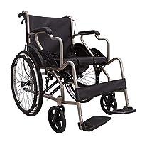 BXU-BG 医療リハビリテーション椅子、車椅子、車椅子19キロポータブル折りたたみ交通車椅子快適なアームレストスイングレッグレスト110キロロードベアリング40 * 40CM座席便器、車椅子マニュアル