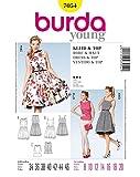 misure Burda signora Young-Fashion Easy 7143-Cartamodello per gonne da donna