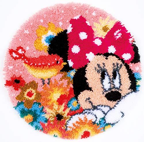 Vervaco PN-0168424 Kit de Crochet de Verrouillage, Tapis, Coton, Blanc, 53 x 53 cm