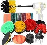 BYGD - Juego de accesorios de cepillo de taladro de 26 piezas, cepillo de perforación y almohadillas de limado, accesorios de cepillo para taladro eléctrico para limpiar el coche