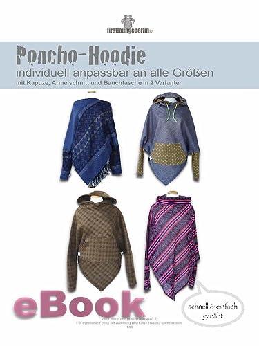 Poncho-Hoodie Nähanleitung mit Schnittmuster für Bauchtasche, Kapuze, Ärmel [Download]