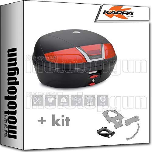 kappa maleta k46n 46 lt + portaequipaje monolock compatible con bmw c 650 sport 2019 19 2020 20