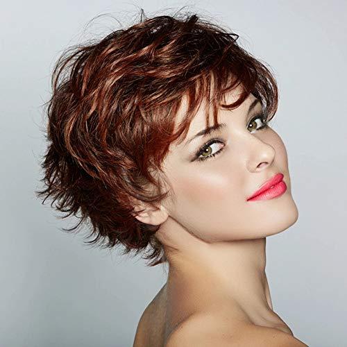 Fleurapance-Perruque courte synthétique à l'aspect super naturel, blond et marron, coupe Bob, pour femme, résiste à la chaleur