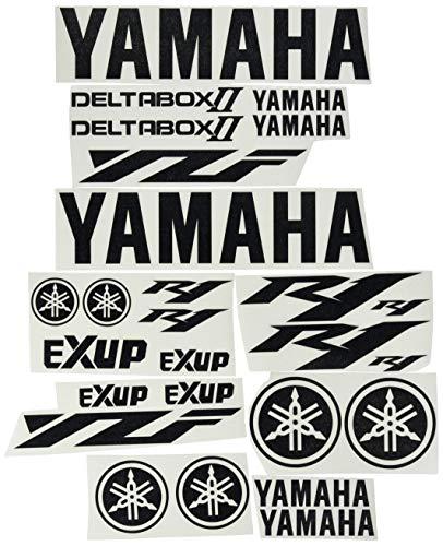 Ecoshirt MY-6T0C-FDAS Aufkleber Motorrad R1 Deltabox III F145 Sticker Decals Aufkleber, Schwarz