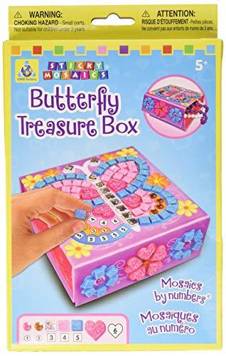 The Orb Factory 620060 - Loisirs Créatifs - Boîte A Bijoux Papillons - Sticky Mosaiques Autocollantes aux Numéros
