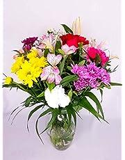 """EL JARDÍ D´ESTHER-Ramo de flores variadas""""Estrella"""" -FLORES FRESCAS NATURALES- ENTREGA EN 24 HORAS"""
