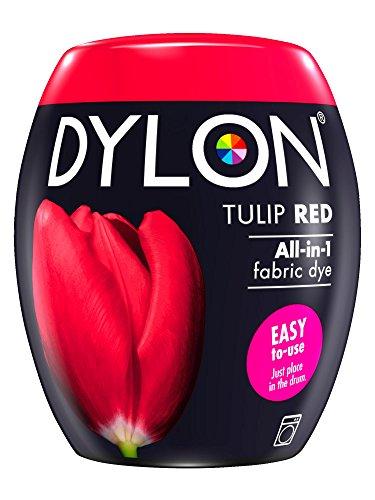 DYLON Washing Machine Fabric Dye Pod for Clothes & Soft Furnishings, 350g – Tulip Red