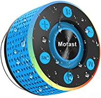 Motast Enceinte Bluetooth 5.0 Portable Haut Parleur IPX7 Waterproof Douche avec Ventouse, Mini Enceinte-Bluetooth TWS...