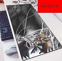 ゲーミングマウスマットラージマウスマット特大マウスパッドゴムコンピュータのキーボードゲーミングエッジゴム大型デスクマット (Color : B)