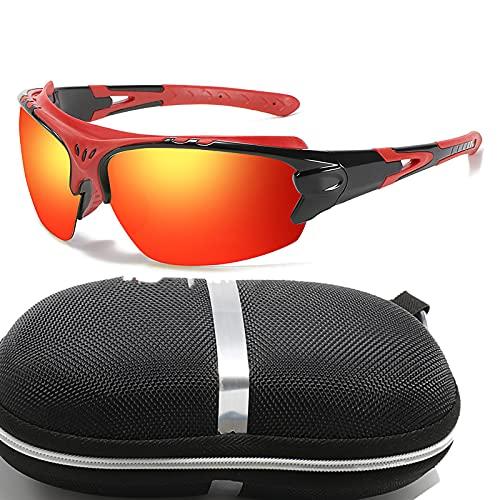 Gafas De Sol Deportivas UV400 Gafas Deportivas Polarizadas para Ciclismo Hombre Mujer, Pesca Gafas De Sol De Béisbol para Conducir, Andar En Bicicleta, Pescar, Golf, Viajar (E)