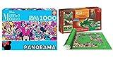 Outletdelocio. Pack Puzzle Educa 17991. Minnie Mouse. Panoramico 1000 Piezas + Tapete Universal Puzzle Roll 2000 Piezas.
