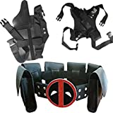 Kids Halloween Cos Costume Dead-pool Waist Belt And Strap And Holster 3 Piece Suit