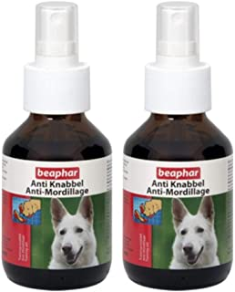 Dog training pet training spray on shoes furnitures Beaphar ANTI-GNAWING ATOMIZER DOG (REPELLENT) 100ML Value pack of 2 pc...