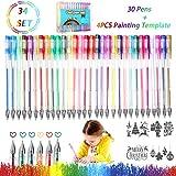 Gel Pen Set RATEL 30 Gelstifte Set für Mädchen Multicolor Gel Stift Set Enthält Glitzer,...