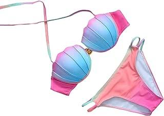 Boutique Swimsuit, 2019 Push-up Padded Bra Swimsuit Bathing Sexy Women Floral Bikini Set Swimwear